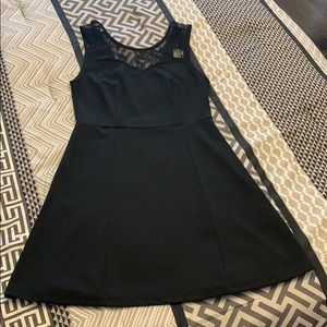 Black Dress with Lace Details